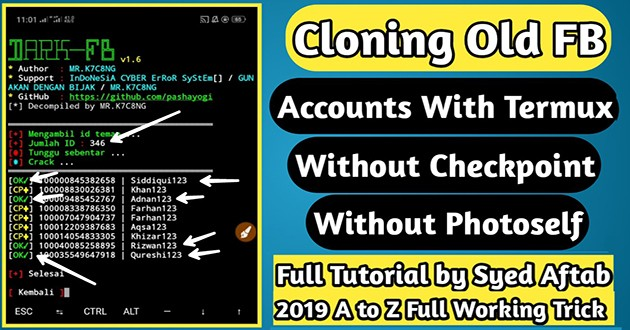 How to Clone Old Facebook Account With Termux 2019 | SETAN Commands