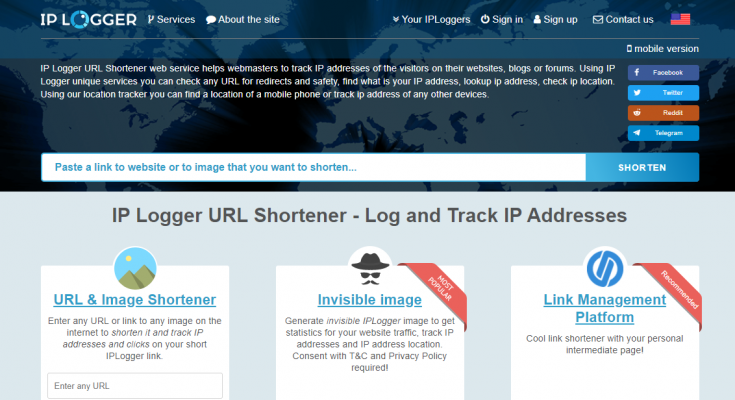 IP Logger URL Shortener - Log and Track IP addresses