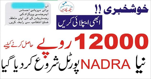 Zilla Intezamia Se rabta Karain Rs. 12000 - Ehsaas Emergency Cash Program
